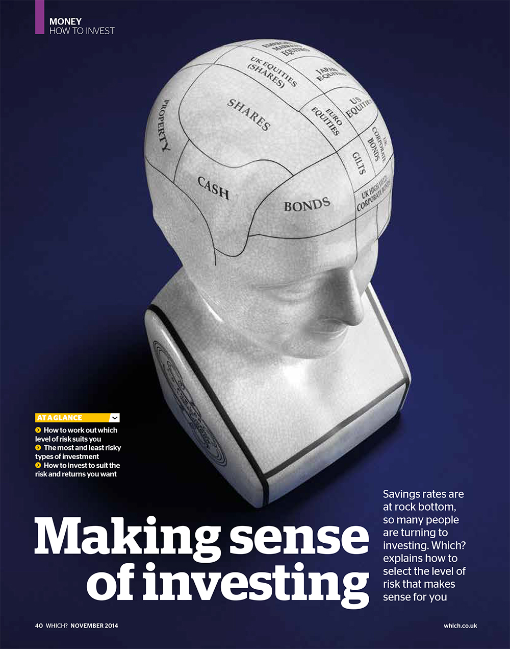 """Cover of Which Magazine article: """"Making sense of investing"""""""