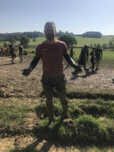 Alex Shaw enjoying the Tough Mudder experience