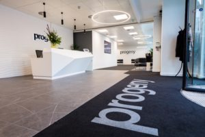 A photo of our new Leeds office's reception area