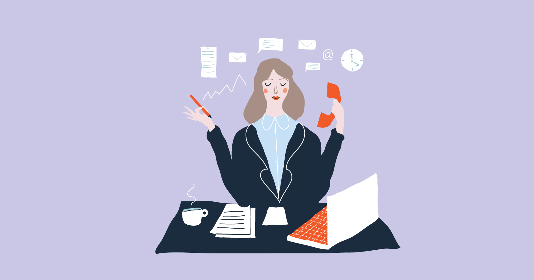 Illustration of Executive Businesswoman
