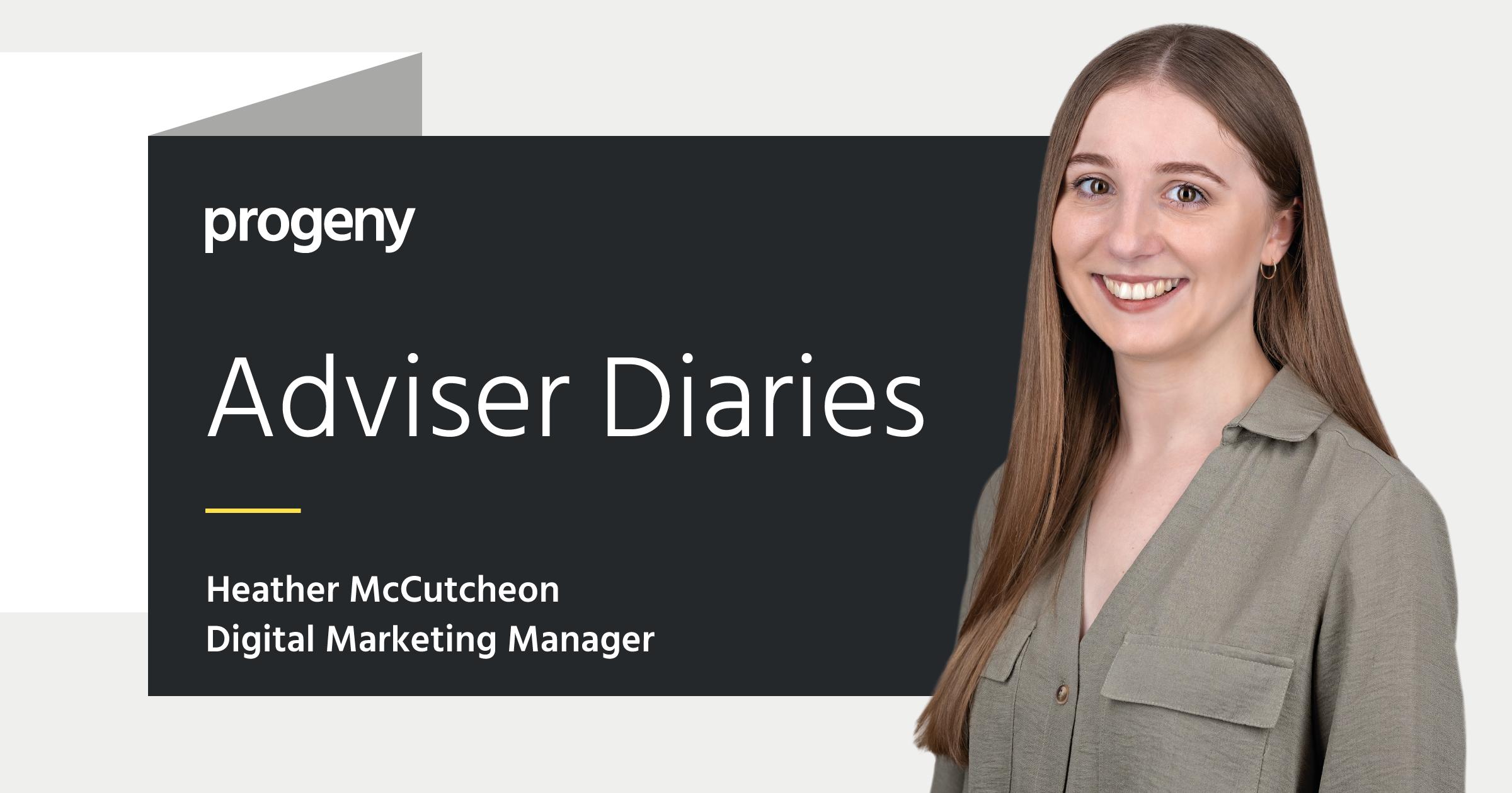 Graphic of adviser diaries