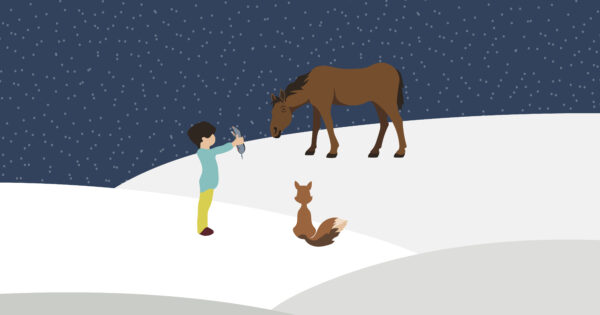 The boy, the mole, the fox and the horse graphic