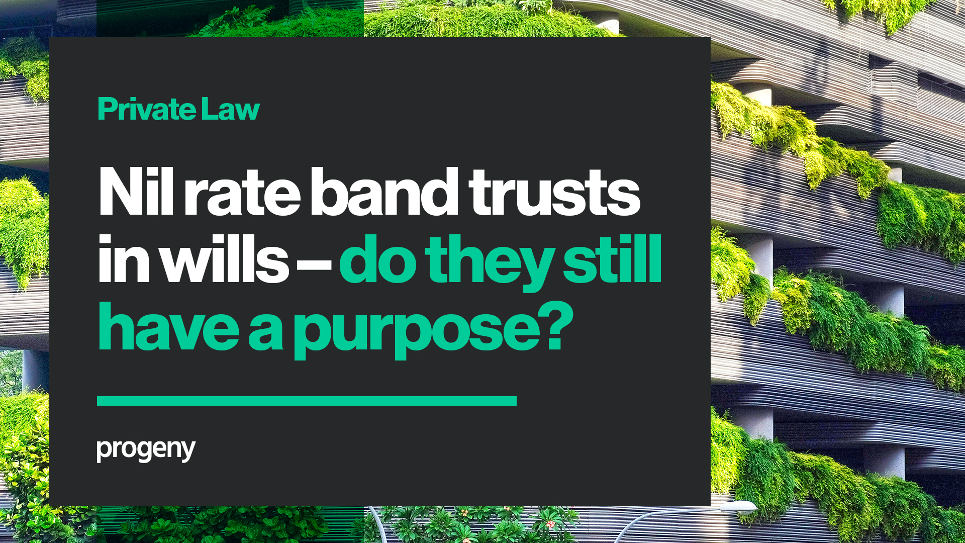 Nil rate band trusts