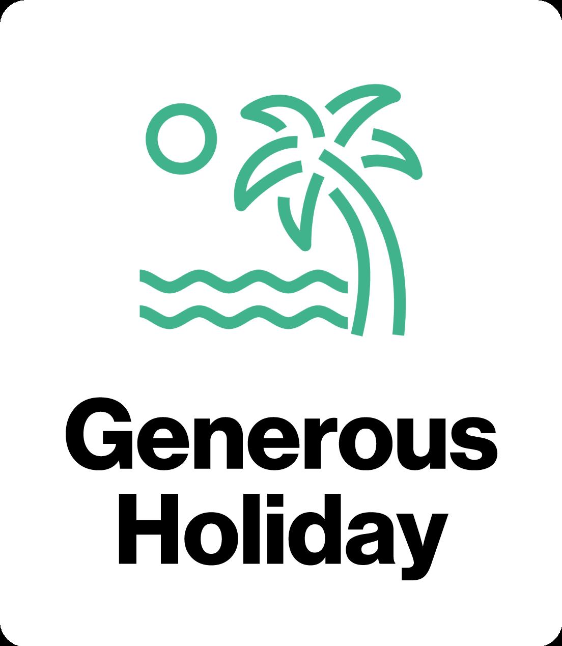 Generous Holiday