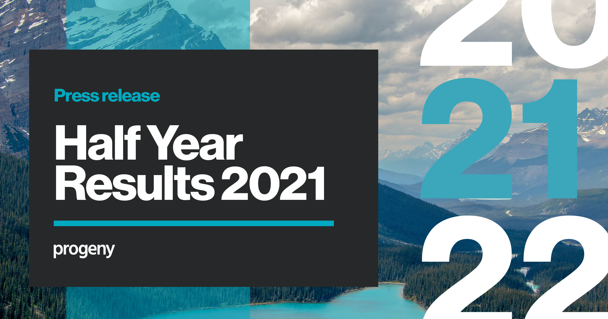 Half year results Progeny growth in numbers 2021